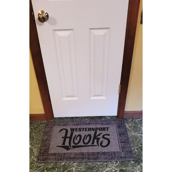 """Style Selections  18"""" x 30"""" Gray Rectangular Indoor/Outdoor Door Mat"""